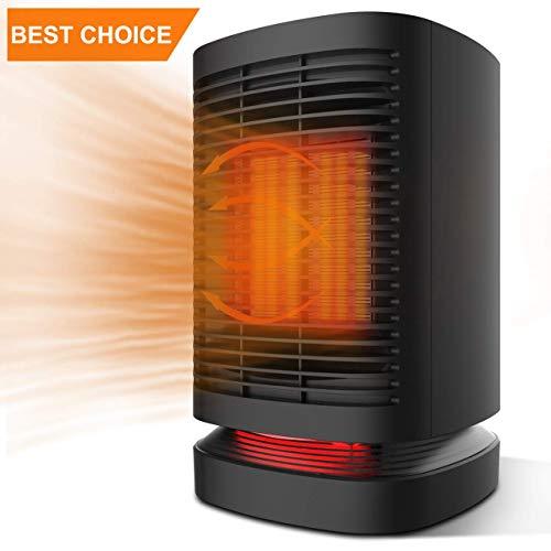 Radiateur Soufflant Rotatif, Ceramique Chauffage d'appoint avec Thermostat, 2''S Chauffage Soufflant Rapide pour pièce 4-10㎡Mobile Électrique 950 W, Ventilation Chaud Froid Ventilateur Professionnel