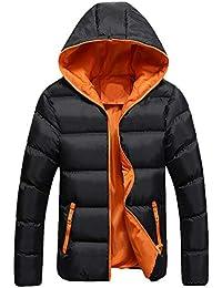 13a495ac336f Sisaki Cappotto Piumino Uomo Invernale, Autunno Zip Giacca Lungo Cappotto  Elegante Parka Outwear Tops