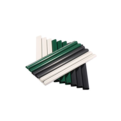 24 Stück PVC – Sichtschutzstreifen – Klemmschienen – Sichtschutz/ Windschutz für Garten und Zaun – Befestigungsclips – Doppelstabmattenzaun – Moosgrün Universal