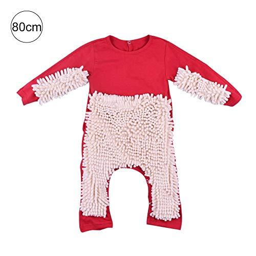 tingtin Strampler Baby Jumpsuit Kinder Langer Schlafanzug Einteiliger Baumwolle Kleidung Junge Mädchen Krabbeln Kleidung Baby Mopp (Pyjama-böden Baumwolle)