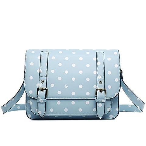 Miss Lulu , Damen Satchel-Tasche 1119D Light blue