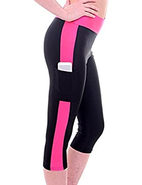 Juleya Polainas Mujer Cintura Alta Leggings Pantalones de Yoga Fitness Push Up Pantalones Deportivos con Bolsillos...
