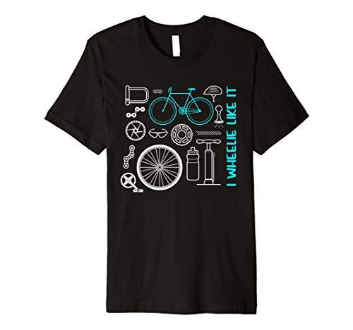 MTB Mountain Bike T Shirt I Wheelie wie es Shirt - Lustige Schmutzige Damen Shirts
