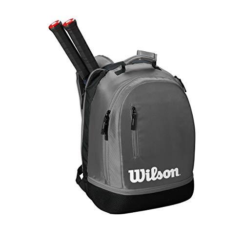 Wilson Tennisrucksack Team, Bis zu 2 Schläger, grau/schwarz/weiß, WRZ854903