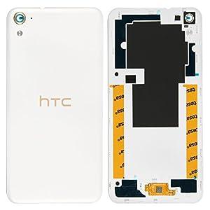 Original HTC Akkudeckel white / weiß für HTC Desire 728G (Akkufachdeckel, Batterieabdeckung, Rückseite, Back-Cover)