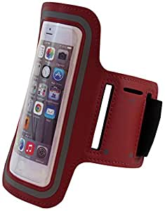 Apple Iphone 6 4.7'' Inch Neoprene Cell Phone Armband for Running, Walking, Hiking, and Other Exercise and Sports Activities by ASCT (Red)