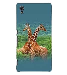 printtech Nature Animal Jungle Giraffe Back Case Cover for Sony Xperia Z3 Plus / Sony Xperia Z3+