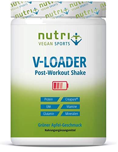 POST-WORKOUT-Shake V-LOADER | Muskelaufbau und Bodybuilding | 750g Grüner Apfel Pulver | Maltodextrin | Protein-Pulver | EAA | Creapure | Vegan Supplement | Green Apple