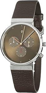 Jacob Jensen No.604, Reloj analógico de pulsera de cuarzo cuero para hombres de JACOB JENSEN