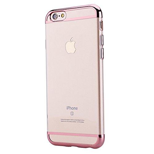 Coque iPhone 6S Plus, Etui iPhone 6 Plus, GrandEver Coque Silicone Transparente Crystal Clair Back Case TPU Bumper Cover Caoutchouc Doux Gel Couverture Coquille Rubber Gel Skin Housse Protecteur pour  Rose