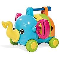 """TOMY Babyspielzeug mit Musik """"Rudi Rasselelefant"""" mehrfarbig - hochwertiges Kleinkindspielzeug - vereint Steckspielzeug und Musikspielzeug - ab 12 Monate"""