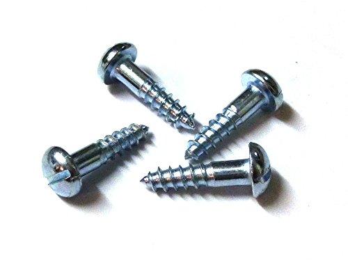 100 Stück MINI-Holzschrauben DIN 96 (Halbrundkopf mit Schlitz) Stahl verzinkt, 2mm Ø in verschiedenen Längen, für Modellbau oder zur Restauration (2 x 12 mm)