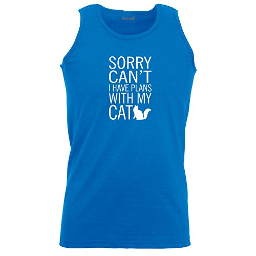 Brand88 - Sorry Can't I Have Plans With My Cat, Unisex Athletic Weste Koenigsblau