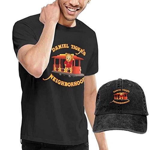 Camicie e t-shirt sportive, top e bluse,mens fashion daniel tiger's neighborhood t shirts and washed denim hat casquette black comfortsoft cotton t-shirt