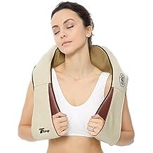 Thinp Masajeador para Cuello Espalda, Masajeador Shiatsu Calor para Hombros Pies Cinturas , Masajeador Portátil Masaje con Calor en Casa, Coche y Oficina