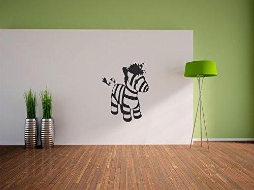 Pixxprint Wandaufkleber, für das Wohnzimmer, das Schlafzimmer oder Kinderzimmer, Motiv: Baby Zebra 900 x 710 mm Nero (Schwarz)