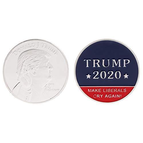 Ruiruinie moneta commemorativa donald trump presidente degli stati uniti d'america 2020 oath collection arts souvenir - argento