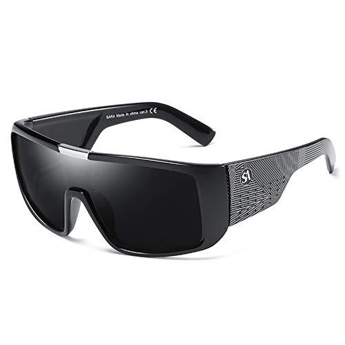 Sxuefang Sonnenbrillen für Herren Dragon Sport Goggle Herren Sonnenbrille Frauen Designer Winddicht Schild Kunststoffrahmen UV400 Objektiv