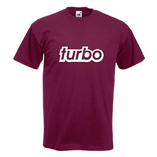 KIWISTAR - Turbo T-Shirt in 15 verschiedenen Farben - Herren Funshirt bedruckt Design Sprüche Spruch Motive Oberteil Baumwolle Print Größe S M L XL XXL Burgund