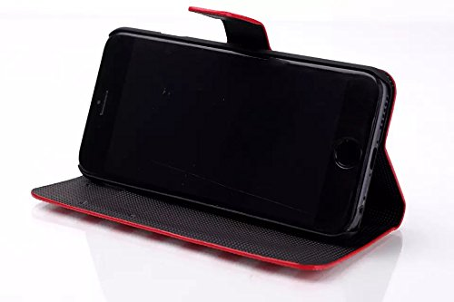 """inShang Hülle für Apple iphone 6 4.7 inch iPhone6 4.7"""", Edles PU Leder Tasche Hülle Skins Etui Schutzhülle Ständer Smart Case Cover für iphone 6 Cell Phone, Handy , Zubehör + inShang Logo hochwertigen B stripe red"""