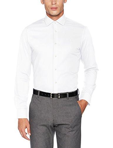 Tommy Hilfiger Herren Businesshemd Core Stretch Poplin Slim Shirt Weiß (100)