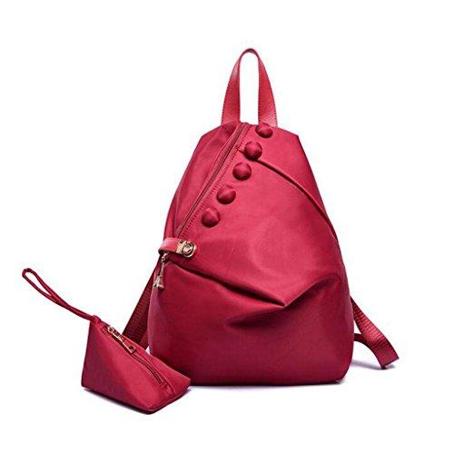 Y&F Lady Taschen LäSsige Anti-Diebstahl-Paket Wasserdichte UmhäNgetasche Schultertaschen Handtasche 43 * 16 * 30 Cm Red