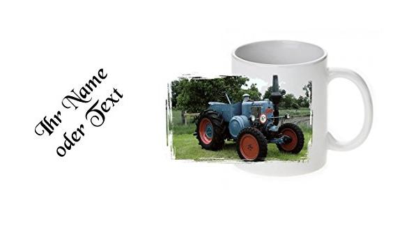 Tasse Fototasse Becher Motivtasse Traktor Lanz Bulldog D7506 Mit Name Küche Haushalt