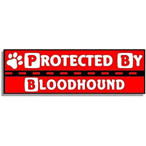 Protected By Bloodhound - Car Bumper Sticker / Auto Adesivi / Porta Di Casa / Window Door Dog / Cane Sign
