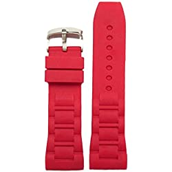 26mm Classic Red Nice Silicone Jelly Rubber Ladies Watch Band Straps WB1059F26JB