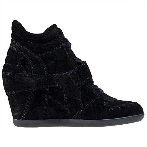 Ash Scarpe Bowie Bistro Sneaker col Tacco Donna Black