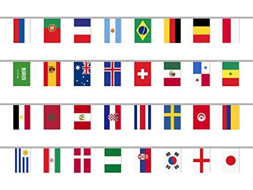 CoolChange guirlande avec les 32 drapeaux des Pays d'occasion  Livré partout en Belgique