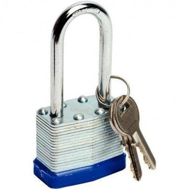 Guilty Gadgets Vorhängeschloss mit langem Bügel aus Stahl mit zwei Schlüsseln, 40 mm (Garage-tür-key Lock)