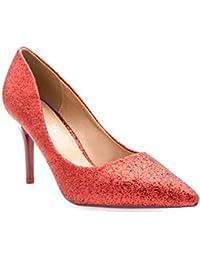49200959d565 Fashion Shoes-Escarpins Femmes Talon Haut Sexy-Chaussures Anguille Talon  Fin 9cm-Vernis