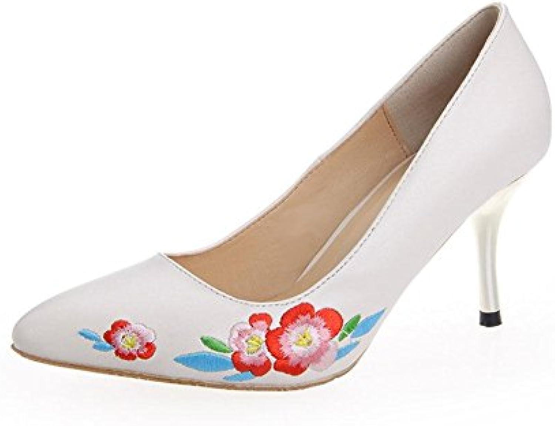 HIGHXE Femmes Dames Dames Dames Fines Chaussures de Marche à Talons Hauts Mode Automne Folk-Custom brodé Chaussures Bout Pointu...B07FZY4TW1Parent fb7e33