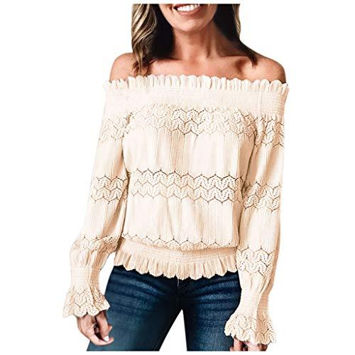 Huacat Damen Langarm Sweatshirt Lässiger Pullover Leopardenärmel Sweatshirt Fashion Stitching Pullover Rundhals Oberteil