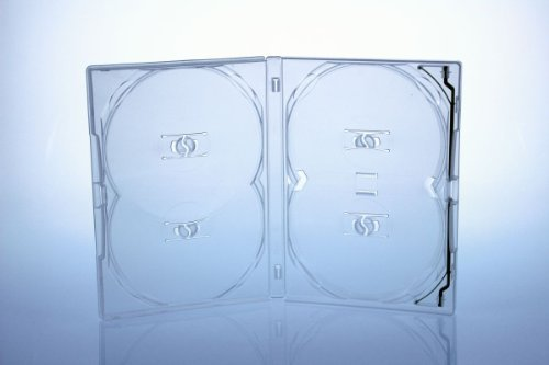 Amaray Custodia per DVD, 2 pezzi, contiene 4 dischi, colore (4 Pezzo Stampato Inserire)