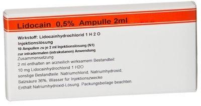 LIDOCAIN RÖWO 0,5% Ampullen 2 ml 20 ml Ampullen