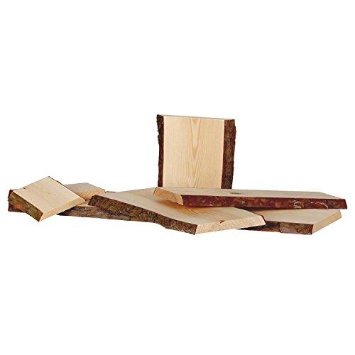 Rindenbrett in natur, Holztbrett, Baumscheibe, Servierbrett verschiedene Größen, Brettgröße:20 x 14-19 x 2 cm - 4