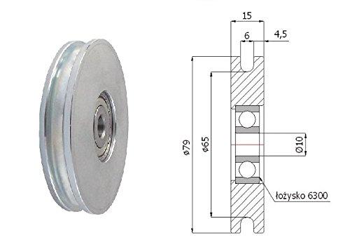 Zabi Metallprofilrollen d=79mm/6 mit Lagerung