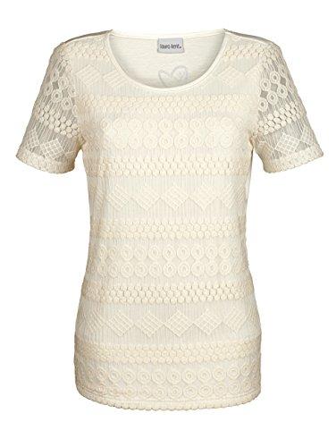 Damen Shirt mit Spitze by Laura Kent Ecru