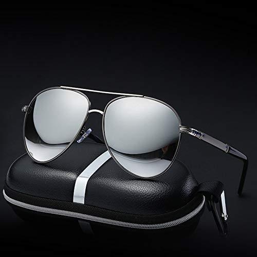 Easy Go Shopping Sonnenbrille mit polarisierten Gläsern Ultraleichter Rahmen UV400 UV Super-Stoßfest Ideal für Sport-Sonnenbrillen mit polarisierten Gläsern Sonnenbrillen und Flacher Spiegel