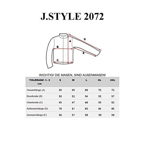 BOLF Herren Kapuzenpullover Sweatshirt Hoodie Basic Sport Style Mix 1A1 Dunkelblau-Blau_2072