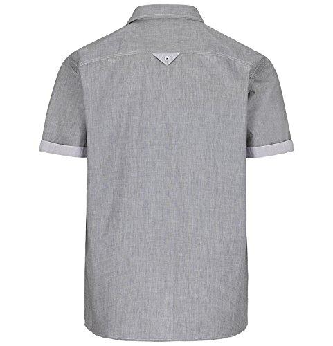 JAN VANDERSTORM Herren Kurzarmhemd OTMUND in Übergröße Große Größen Plus Size Big Size XL XXL XXXL 4XL 5XL 6XL 7XL 8XL 9XL 10XL Grau