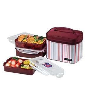 Lock & Lock Picnic Lunch Box Bento Set - HPL817DP, Purple (medium)