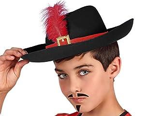 Atosa-63530 Atosa-63530 - Accesorio para disfraz de mosquitos y sombrero, unisex, color negro, talla única