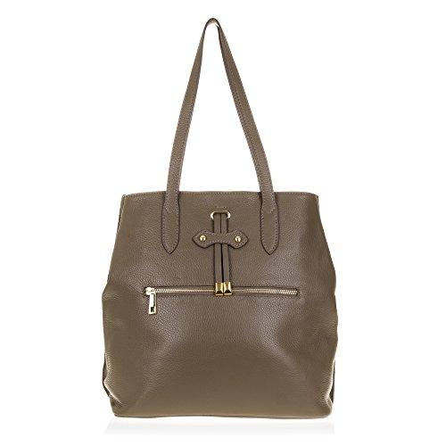 FIRENZE ARTEGIANI.Bolso Shopping Bag de Mujer Piel auténtica.Bolso Mujer Cuero Genuino, Piel acabdo...