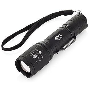AYL Super Bright LED Flashlight Set: 2 Mini 1000 Lumen Tactical Flashlights| Zoomable Adjustable Brightness LED Torches| 5 Lighting Modes| Water-Resistant Emergency & Travel Flashlights