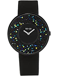 SO & CO New York 5223.4 - Reloj de pulsera Analogico Mujer correa dePiel Negro