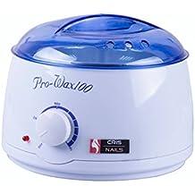 Cris Nails ® Calentador De Cera Para Depilar, Belleza y Depilación (BLANCO, SIN CERA)