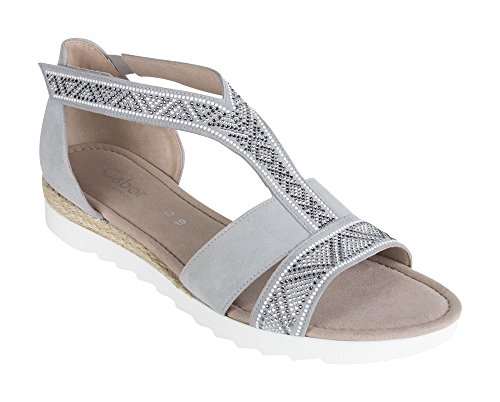 Gabor Comfort Sport Sandalette in Übergrößen Grau 82.713.40 Große Damenschuhe, Größe:46